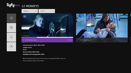 12 Monkeys Syfy Now screenshot