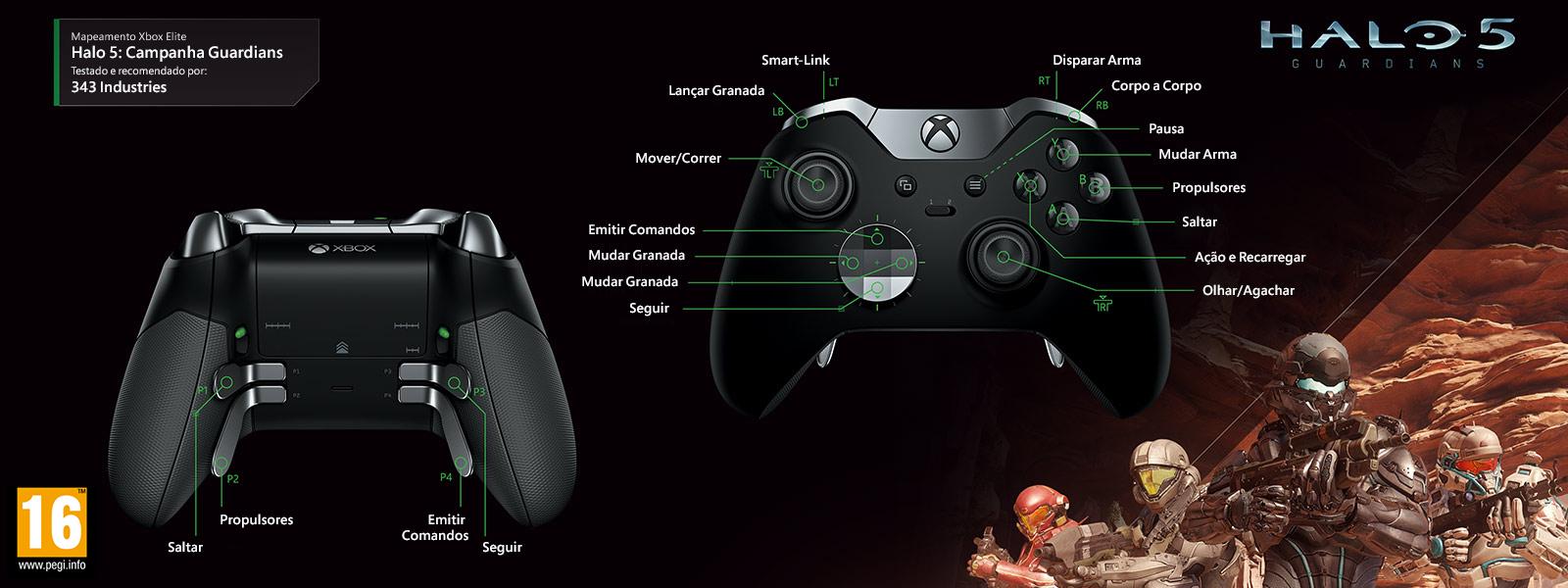 Mapeamento Elite para Halo 5 – Guardians Campaign