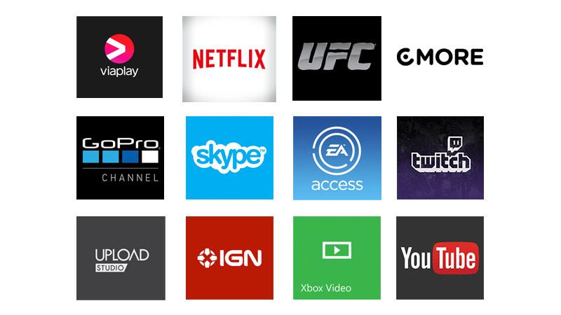 Collage av Xbox-appar