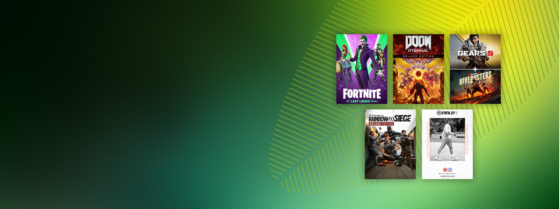 A collection of games available in the Spring Sale on a green background.