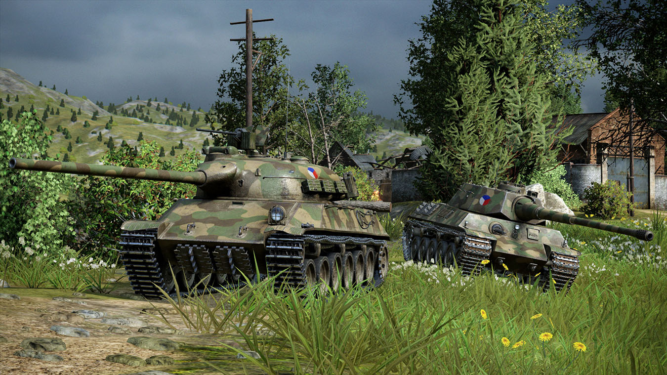 Map World Of Tanks Pc To Controller%0A See image  Czechoslovakian medium class tanks driving on grassy hillside