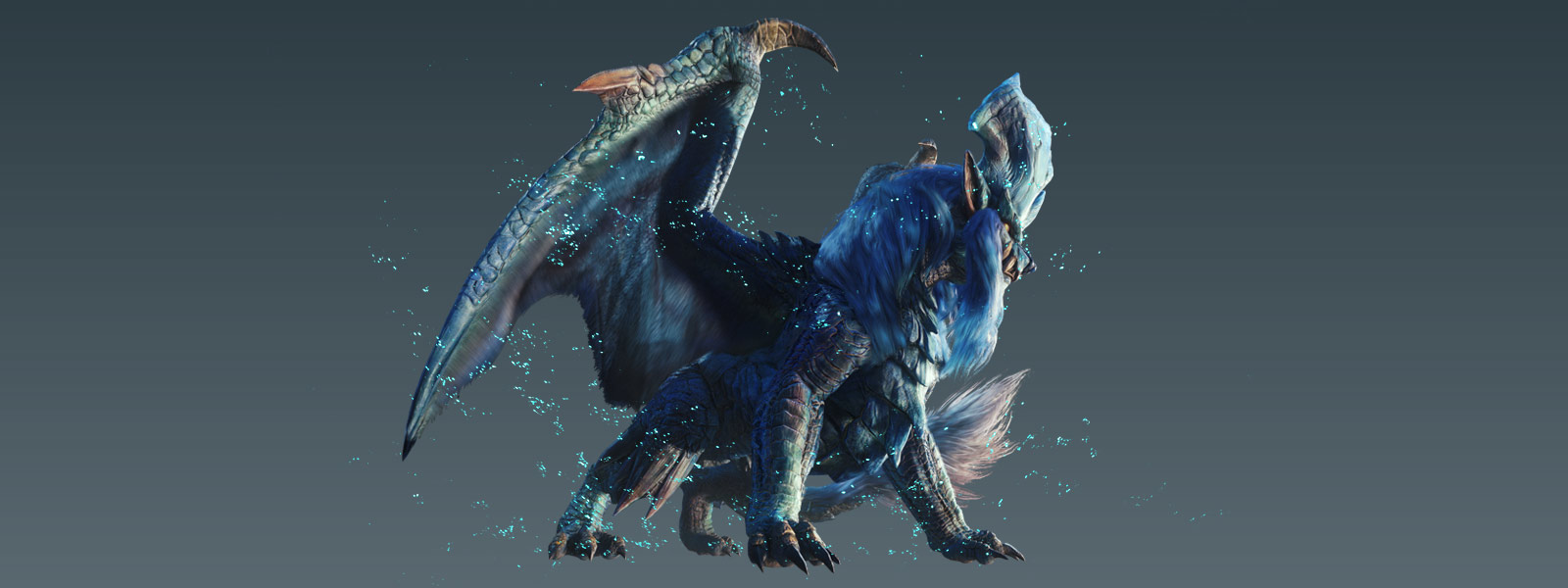 Visão lateral do Elder Dragon Lunastra