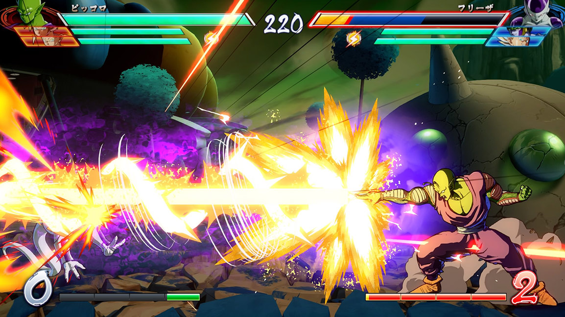 Piccolo uses Special Beam Cannon on Frieza