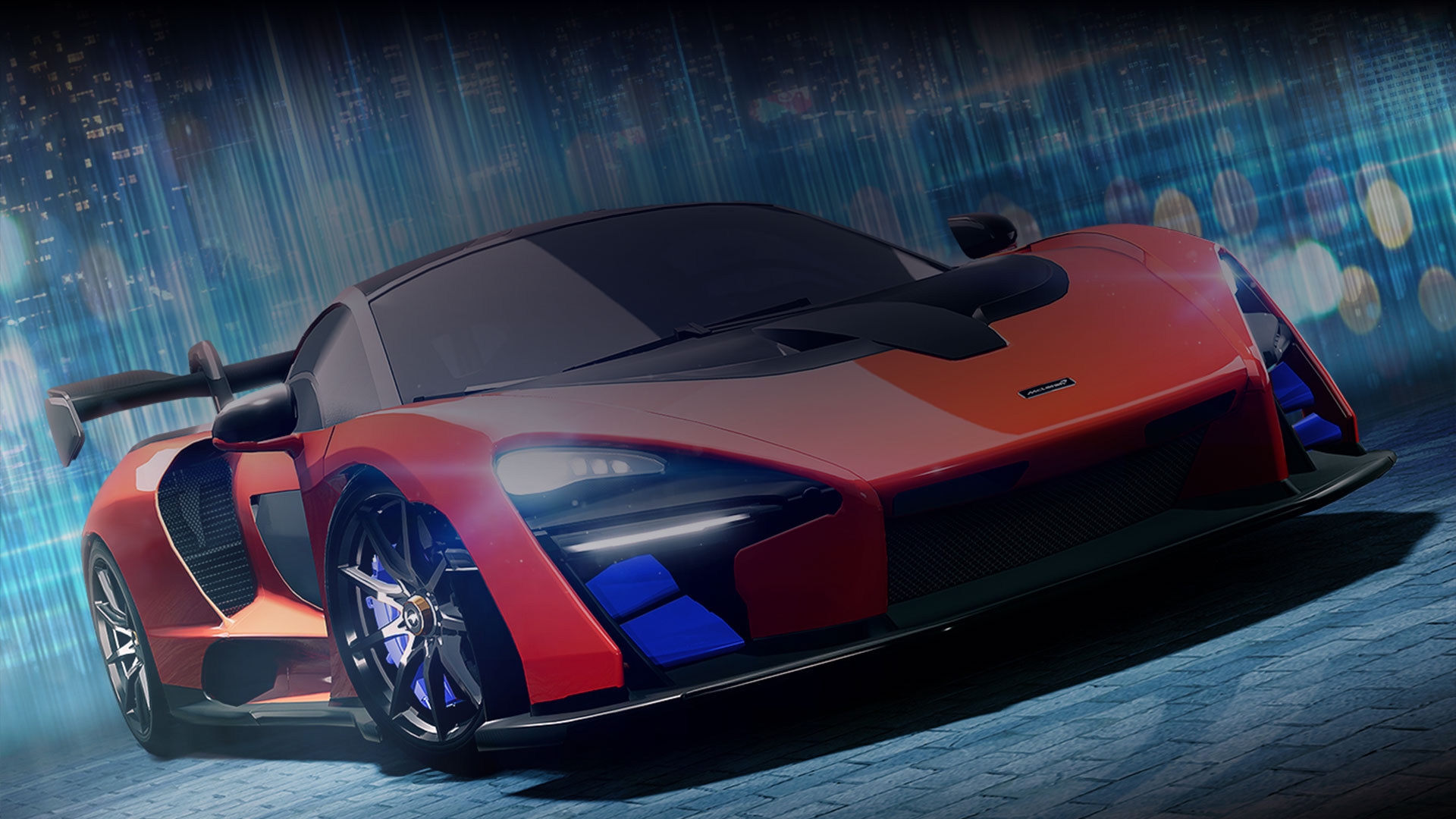 Orange sports car from Forza Street