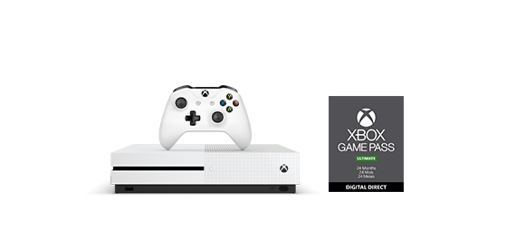 Xbox One S with Xbox Game Pass box