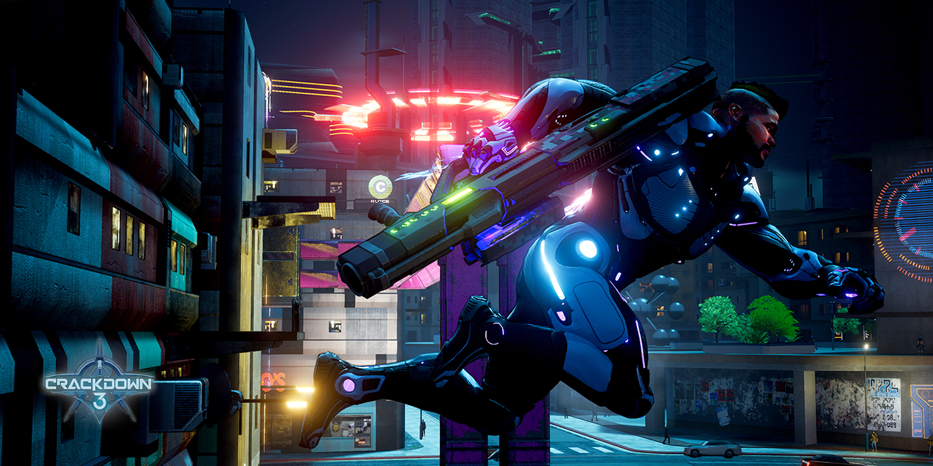 Scene from Crackdown 3