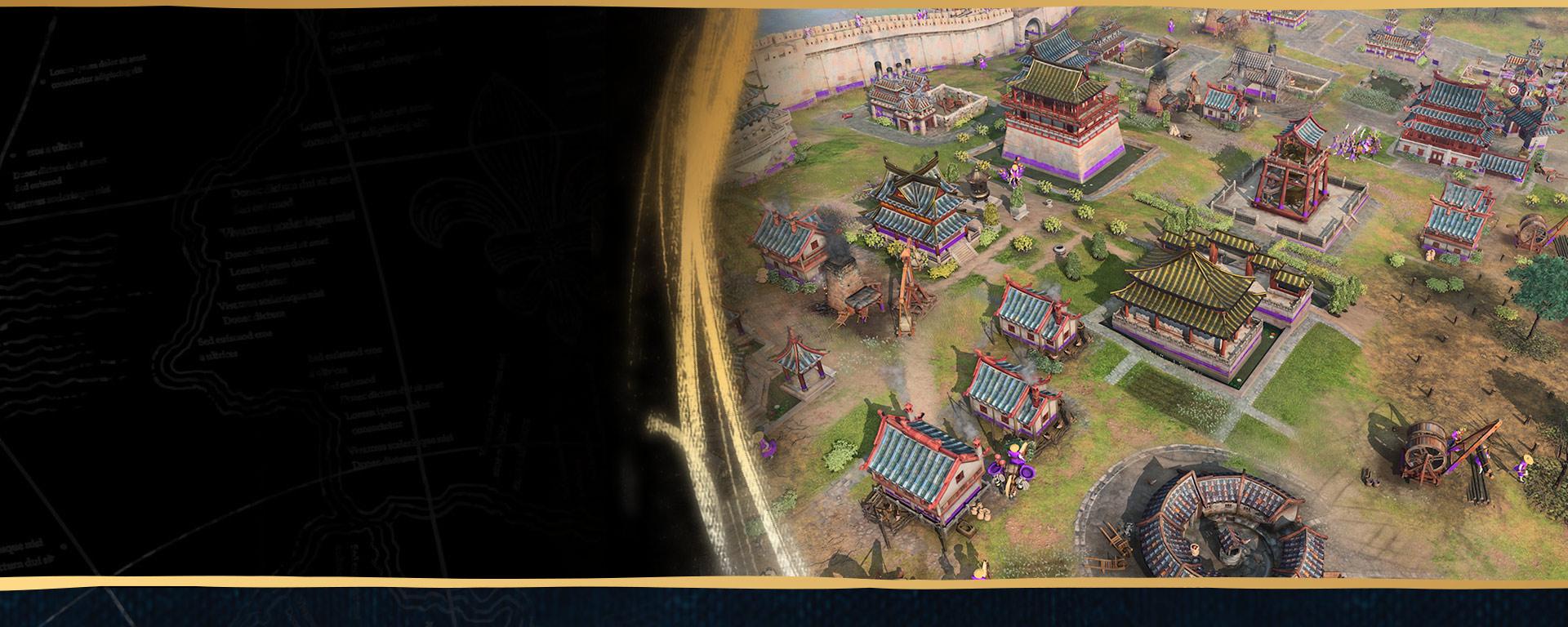 Bygg byer, administrer ressurser, og før troppene dine til kamp på land og til sjøs i fire forskjellige kampanjer med 35 oppdrag som spenner over 500 års historie fra mørketiden og opp til renessansen.