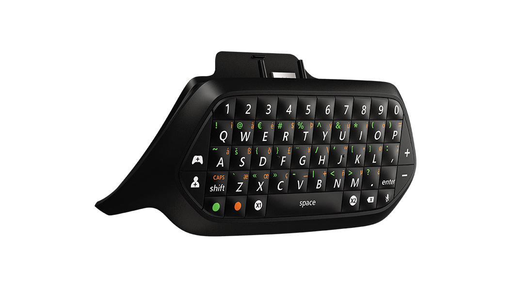 Xbox Chatpad von links