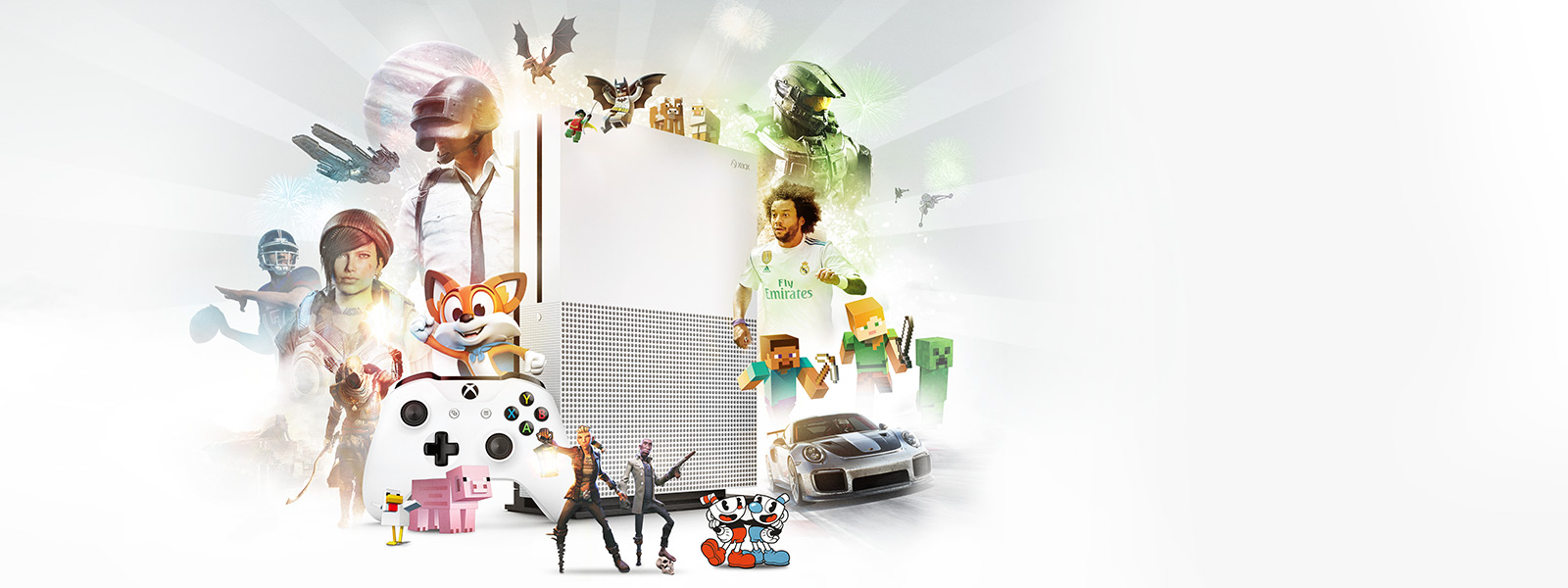 Xbox One S with Exclusive Titles