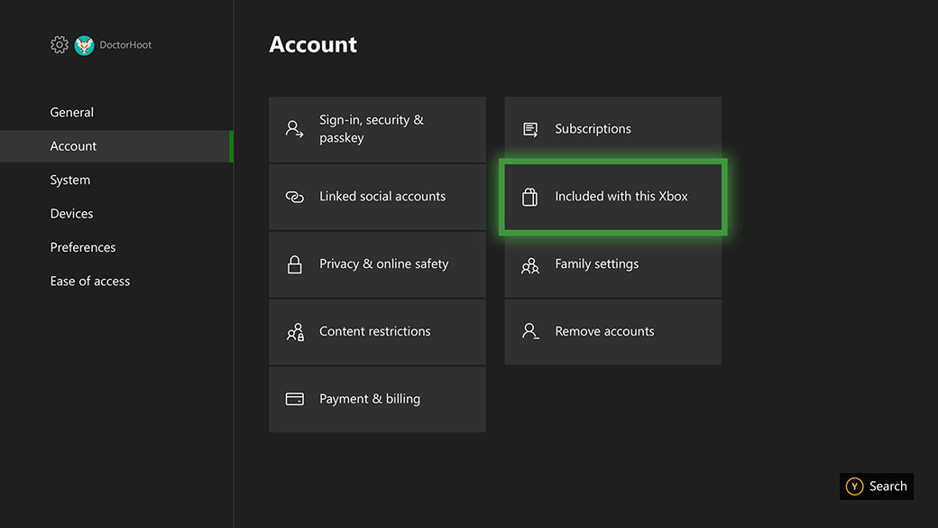 Claim digital direct offers in your Xbox account settings