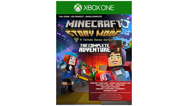 Imagem da caixa do Minecraft: Story Mode Season 1 – The Complete Adventure