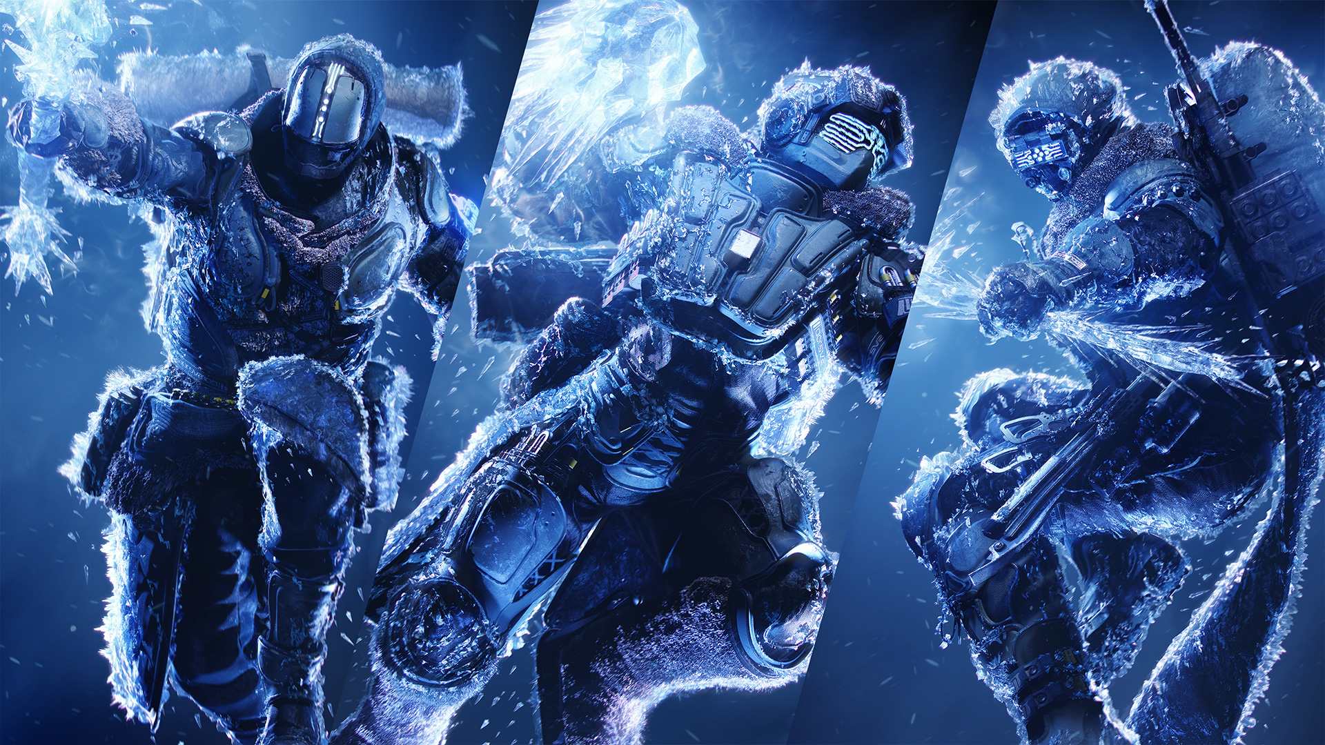 Game art for Destiny 2: Beyond Light, showing Guardians in a frozen Europa setting