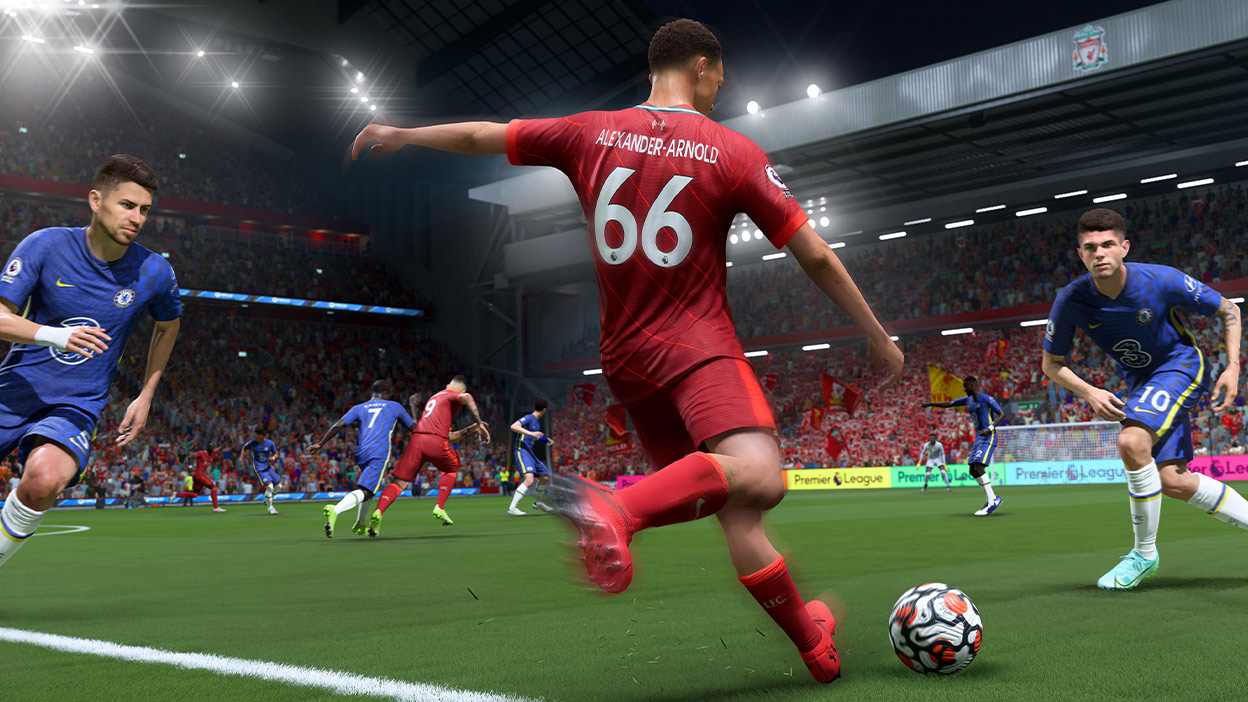 66 numaralı Alexander-Arnold gol atmaya hazırlanıyor.