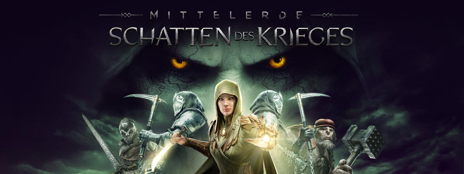 Mittelerde: Schatten des Krieges, Eltariel vor 4 Figuren mit großen glühenden Augen