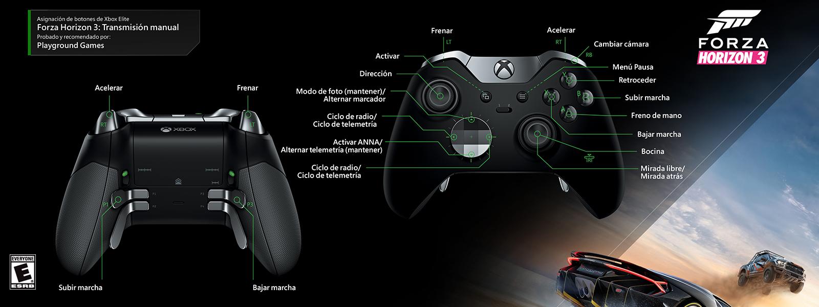 Forza Horizon 3: transmisión manual (asignación de funciones del control Elite)