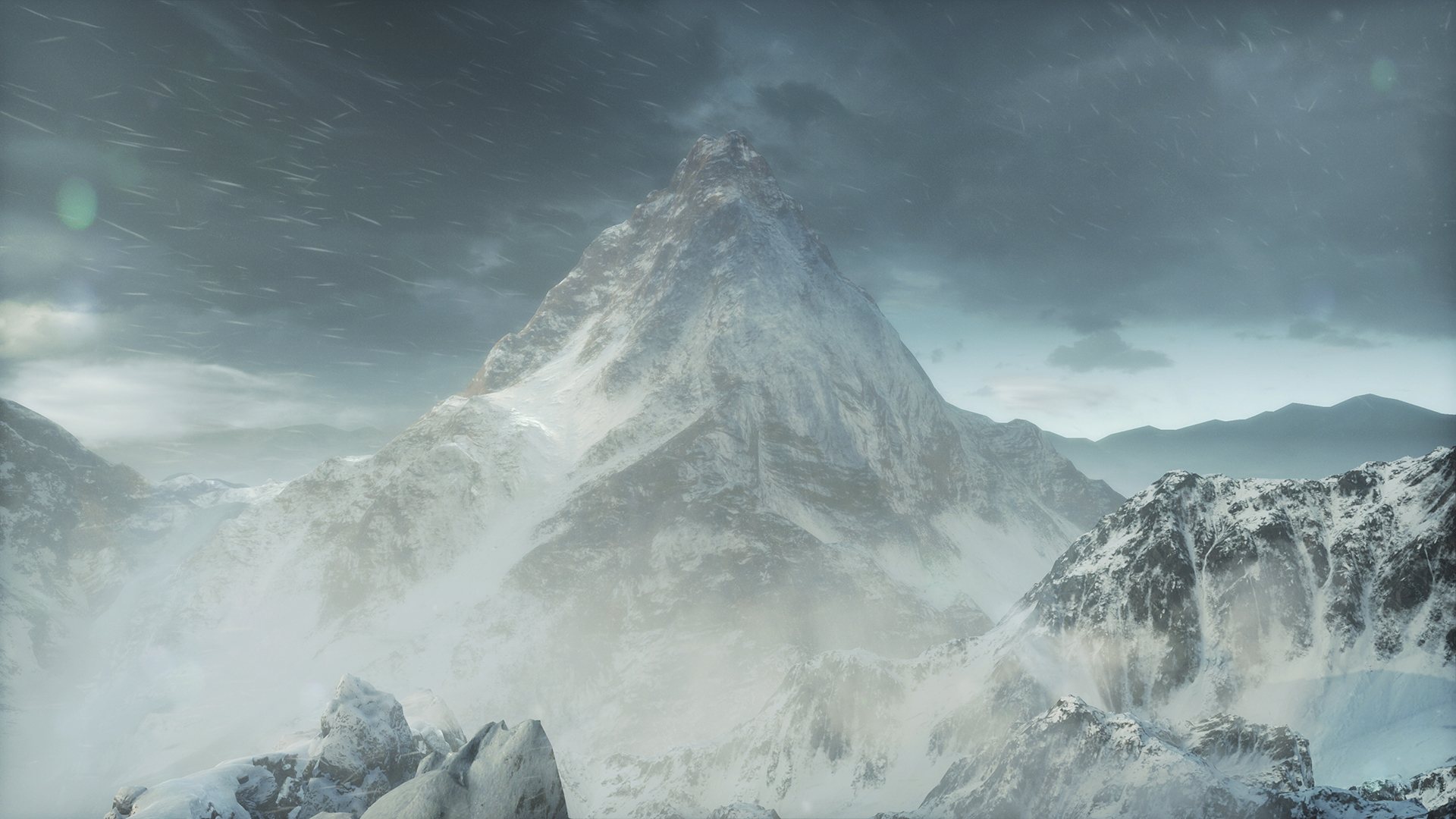 Picture from the game Rise of the tomb raider, Mountain Peak.