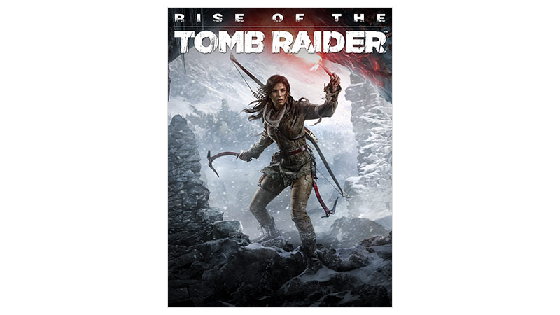 Rise of the Tomb Raider Standard Edition -pakkauksen kansi