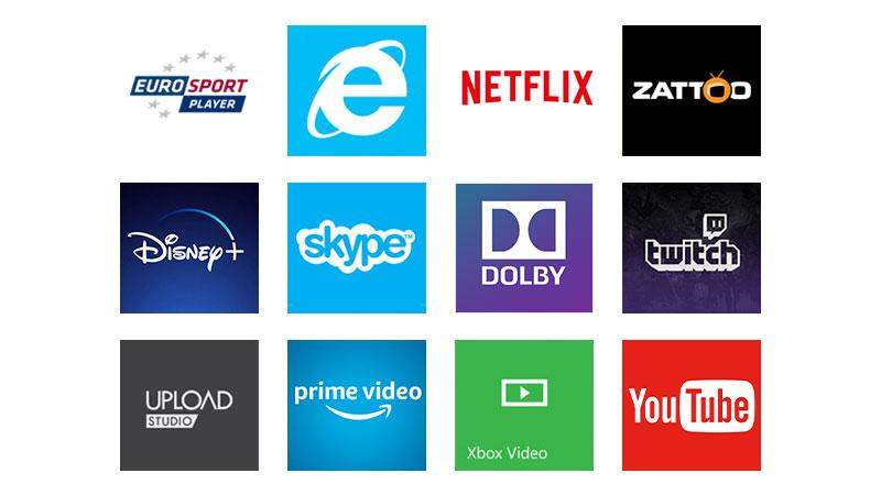 Erhalte Zugang zu Hunderten von Apps und Diensten auf deiner Xbox: Filme, Musik und Gaming.