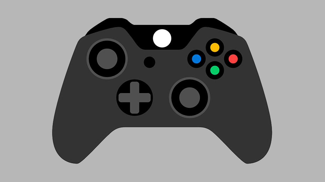 Illustration de la manette sans fil Xbox noire.