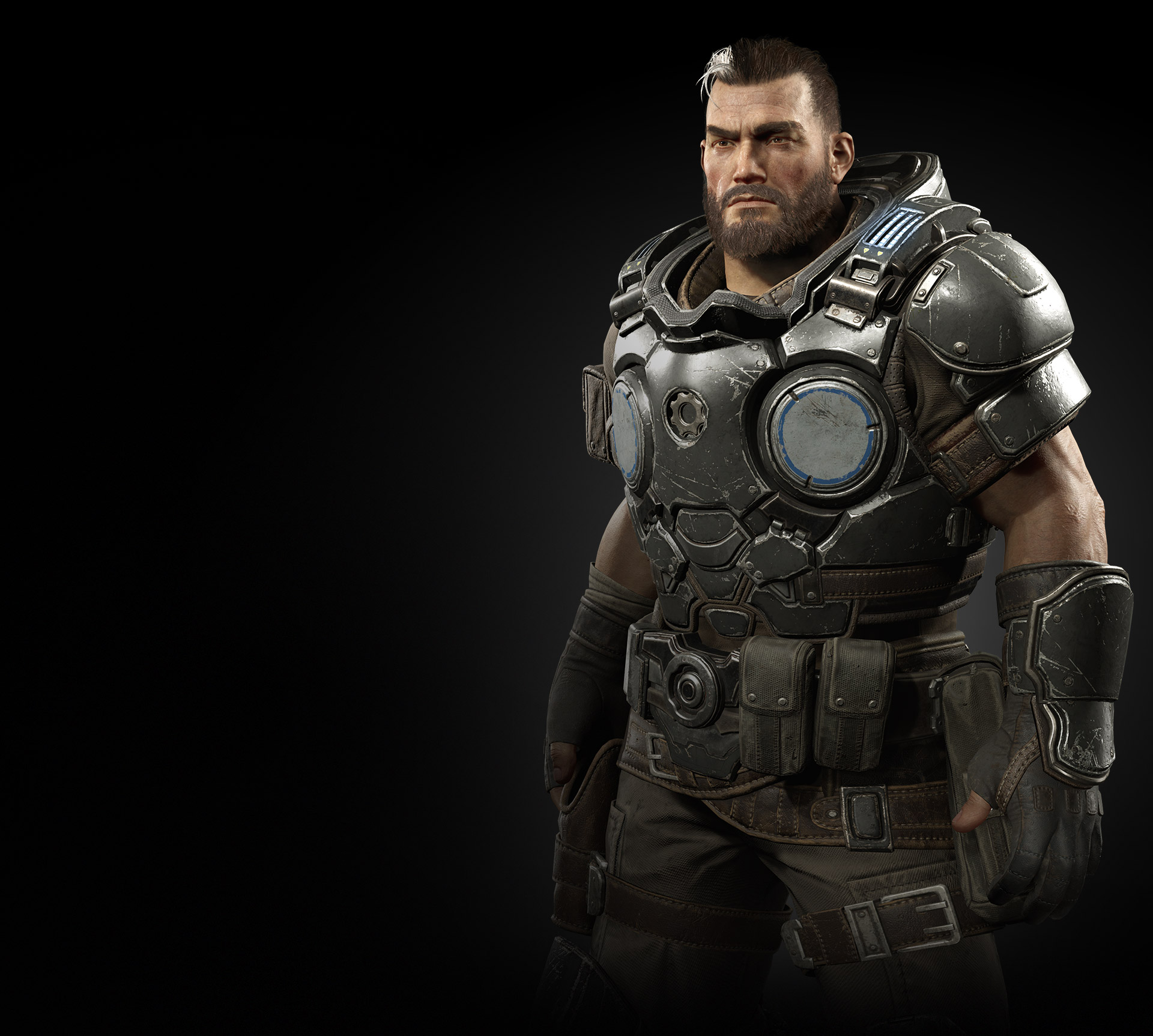 Torso view of Gabe Diaz from Gears Tactics