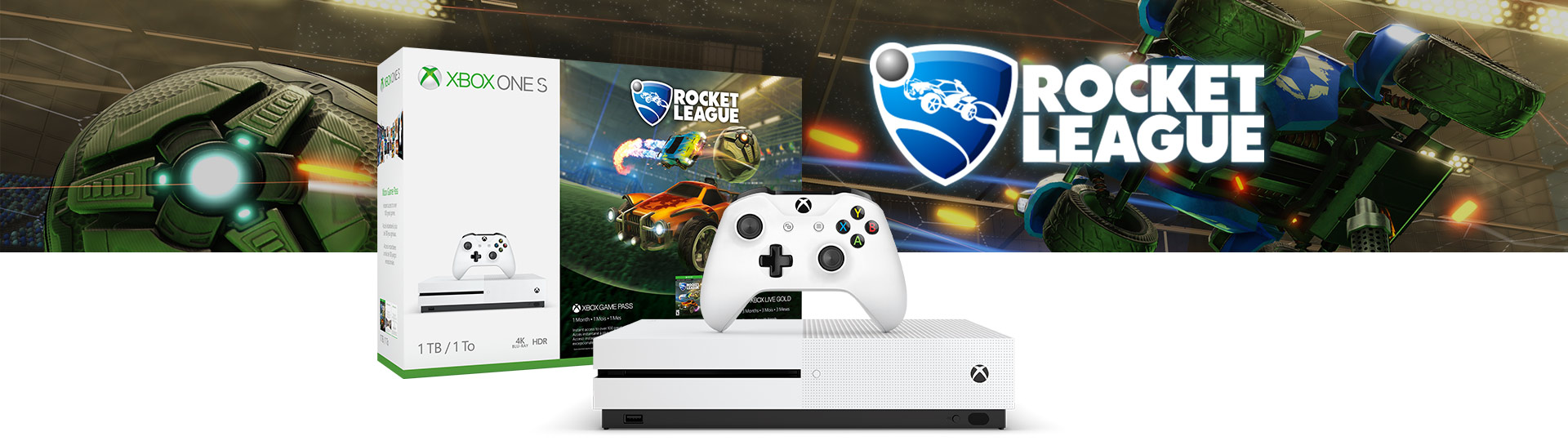 Pacote Xbox One S Rocket League Blast-Off de 1 terabyte