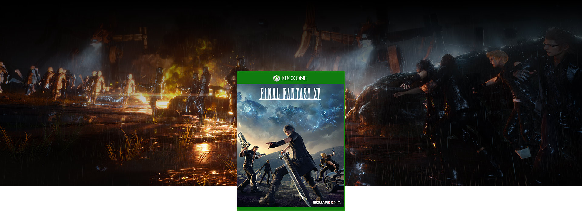 Final Fantasy XV game art en game boxshot