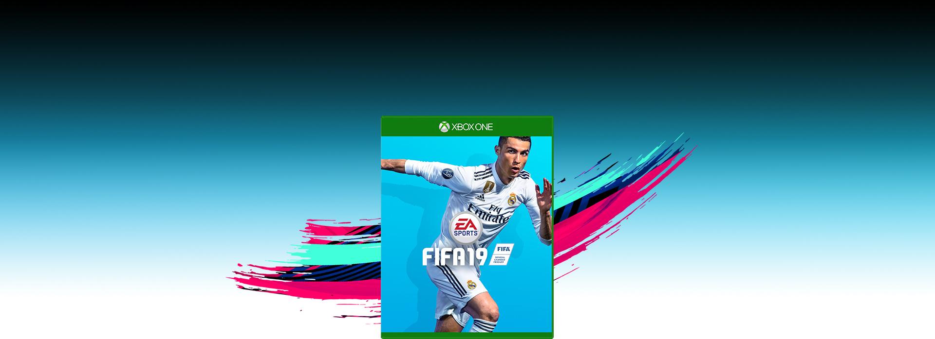 Imagem da caixa do FIFA19