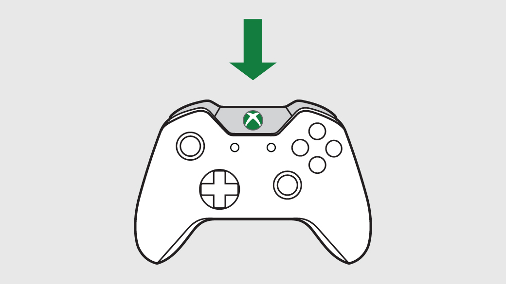 Bouton Guide de la manette Xbox One