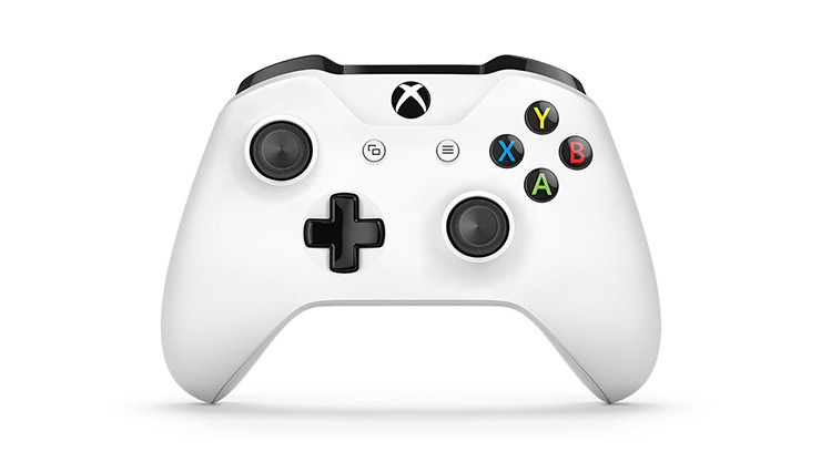 Front view of Xbox One White Wireless Controller