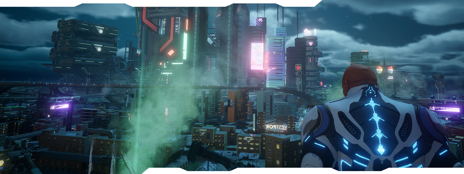 Agent observant la ville