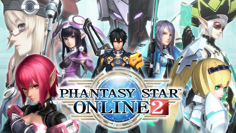 Various characters from Phantasy Star Online 2