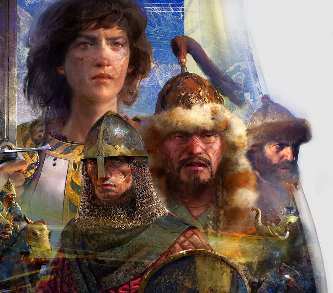 Age of Empires IV, characters Joan of Arc, King Arthur Pendragon, Genghis Khan and Ivan the Terrible.