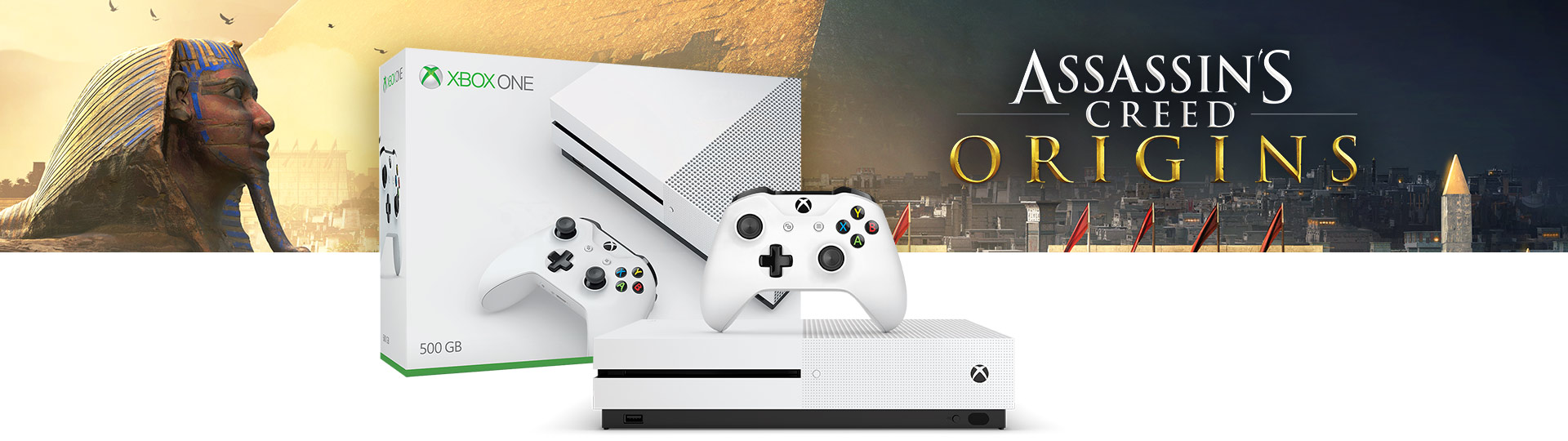 Xbox One S Assassin's Creed: Origins Bundle (500GB)