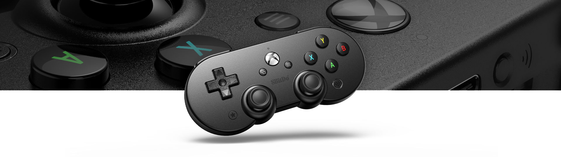 SN30 Pro with a close-up of controller surface texture