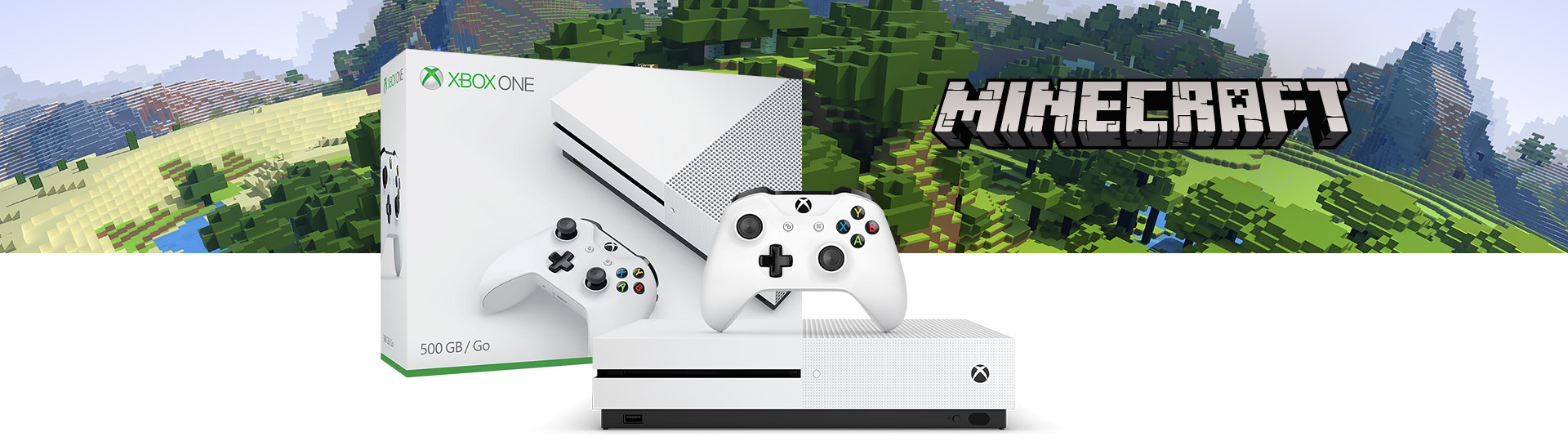 Xbox One S Minecraft Complete Adventure Bundle (500GB)