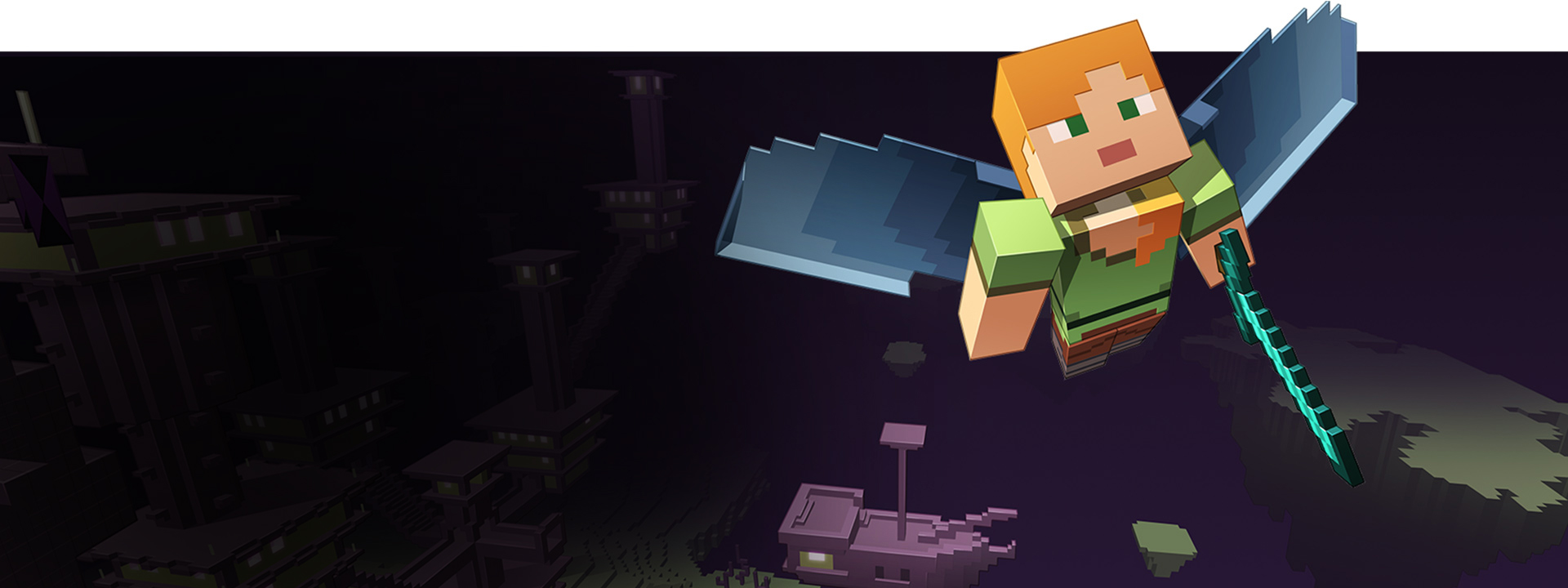 Minecraft Realms on Xbox Live - Flying Minecraft Avatar