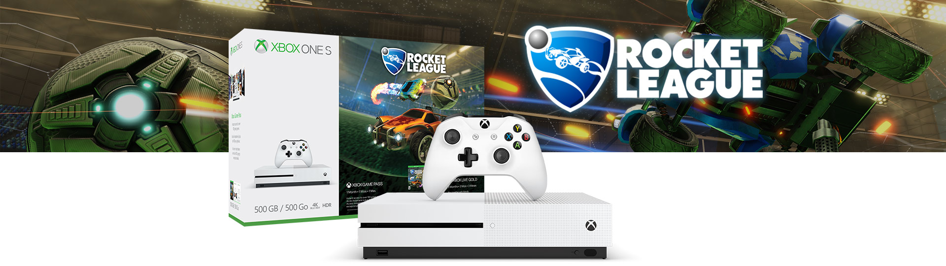 Xbox One S Rocket League Blast-Off Bundle (500 GB)