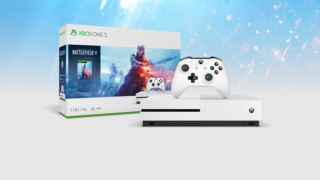 view of Xbox One S  Battlefield™ V Bundle (1TB