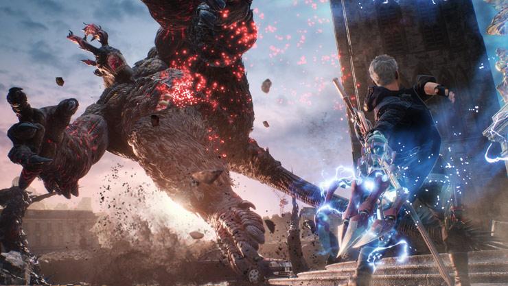 Nero destroys giant troll like enemy