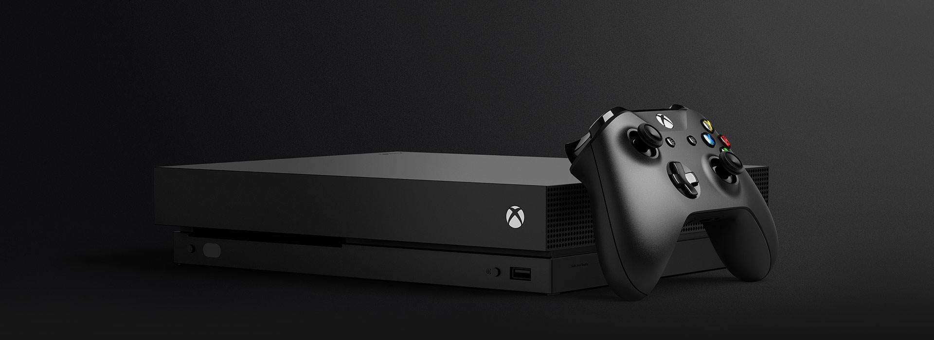 Xbox One X con un controller wireless per Xbox One
