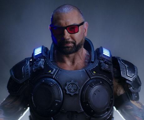 David Baustista wear shades & Gears 5 outfit