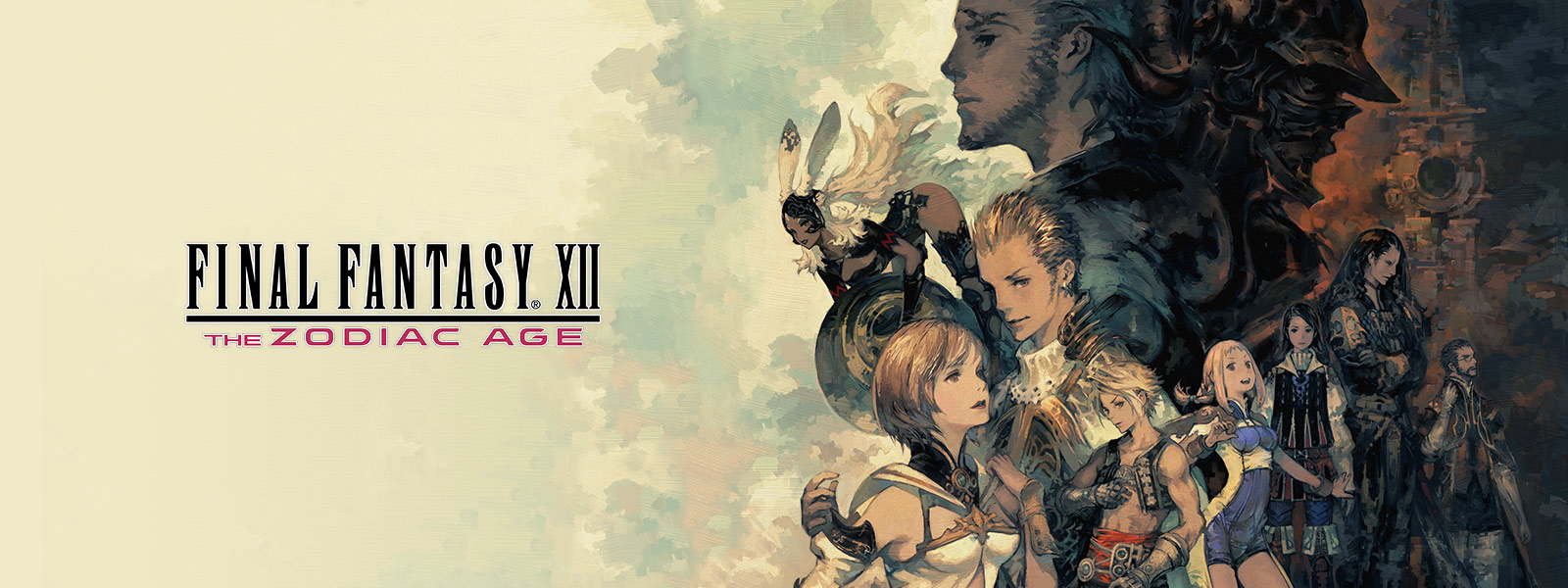 Montasje av karakterer fra FINAL FANTASY XII THE ZODIAC AGE