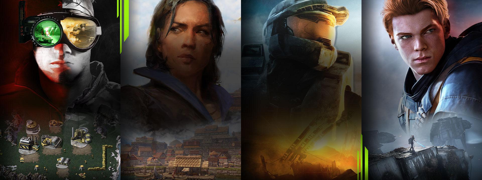 Et utvalg spill tilgjengelig for Xbox Game Pass for PC inkludert Command & Conquer Remastered, Age of Empires III: Definitive Edition, Halo 3 og STAR WARS Jedi: Fallen Order.