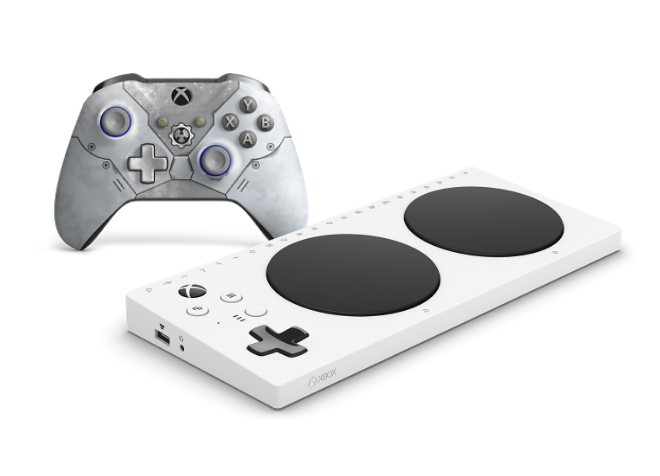 Xbox Accessibility controller and the Xbox wireless controller Gears 5