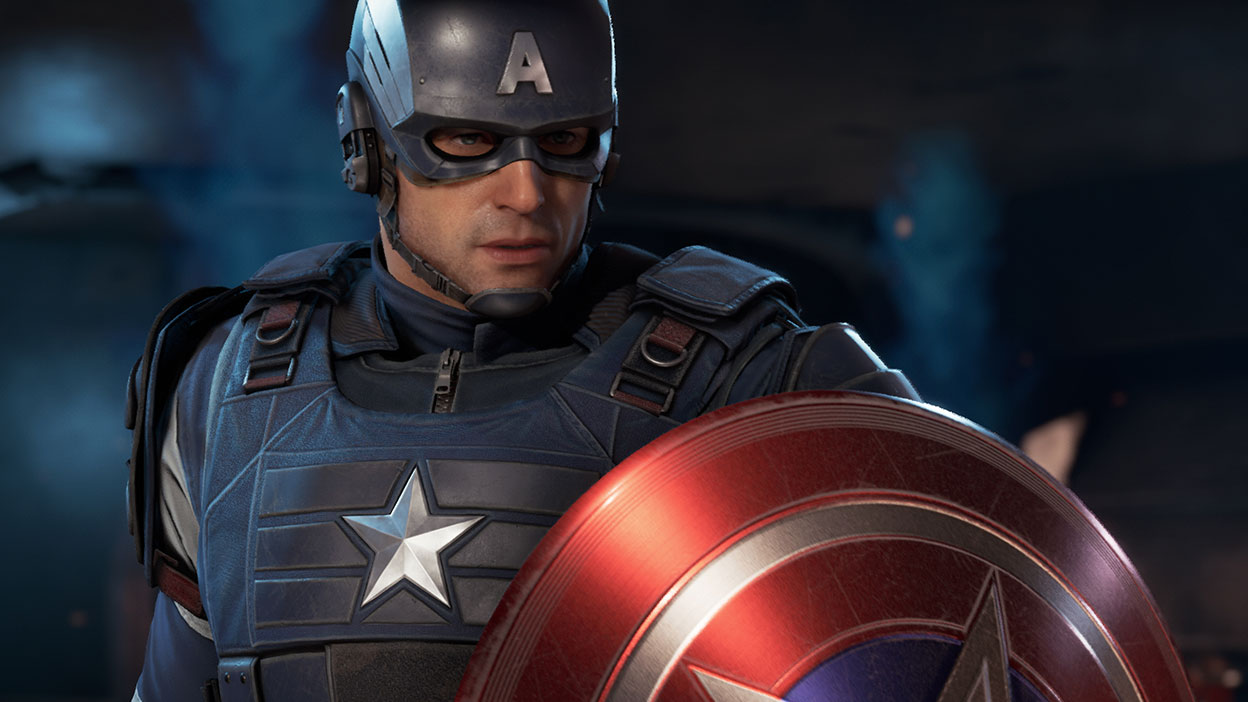 Captain American from Marvel's Avengers with his shield