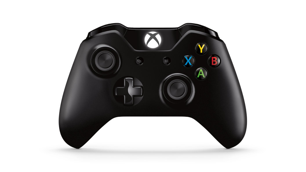 Vista anteriore del Controller Wireless per Xbox One con Kit Play & Charge