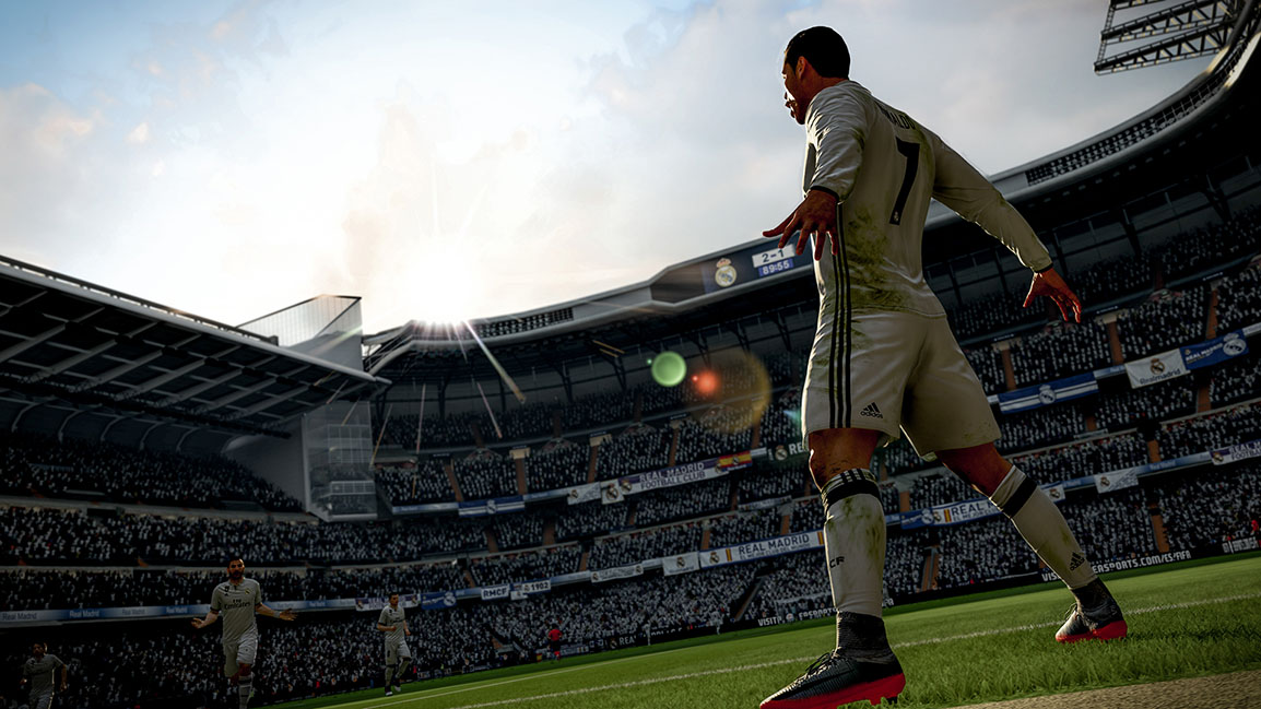 Fejrende Cristiano Ronaldo set bagfra