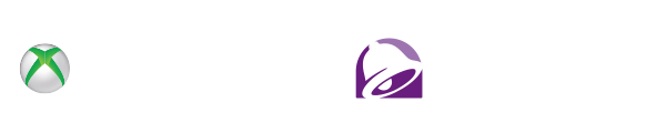 taco bell logo and xbox logo