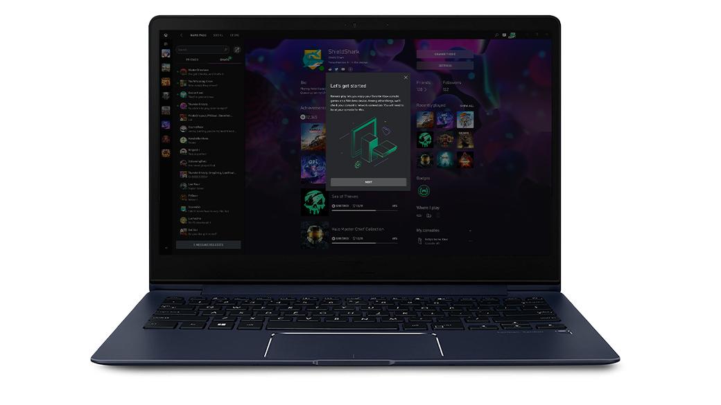 Xbox アプリを実行しているノート PC が リモート プレイ機能のセットアップを開始します。