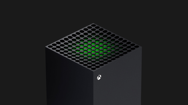 An overhead look at the Xbox Series X.
